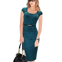 Elegant Floral Print Work Business Casual Party Summer dress