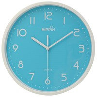 "Hippih 10"" Silent Non-ticking Quartz Digital Wall Clock,Blue"
