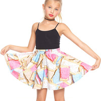 Girls Toaster Party Skater Skirt