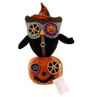 Halloween OWL ON PUMPKIN Fabric Zippers Witch FGH69804