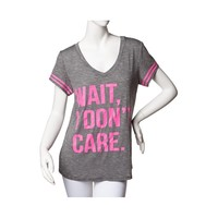 Womens I Don't Care Tee