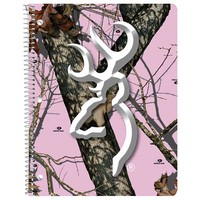 Browning Mossy Oak Break-Up Pink Camo Spiral Notebook