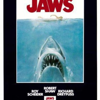 Jaws movie poster Sign 8in x 12in