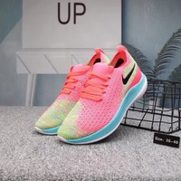 """Nike Free"" Women Casual Fashion Multicolor Barefoot Flyknit Running Shoes Sneakers"