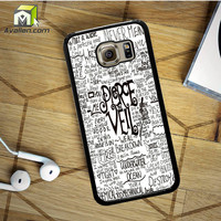 Pierce The Veil Song Lyric Samsung Galaxy S6 Case by Avallen