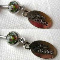Best Friend Belly Ring, BFF Belly Jewelry, Friendship Belly Ring, Custom Belly Ring, 2 for 1 Belly Rings, On Sale