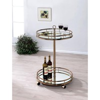 Trixie Contemporary Serving Cart By Furniture Of America