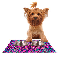 "Nika Martinez ""Pink Electric Chevron"" Dog Place Mat"