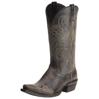 Ariat Cowgirl Womens Bright Lights Western Boots Rustic Black Leather