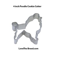Poodle Cookie Cutter 4.75 inches