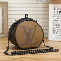 Louis Vuitton LV Hot Sale Retro Mini Small Round Bag Coin Purse Fashion Ladies One Shoulder Messenger Bag
