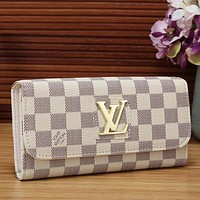 LV Louis Vuitton Women Fashion Leather Wallet Purse