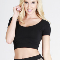 You're The One Seamless Crop Top (BLACK)