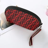 FENDI Fashionable Women Makeup Bag Cosmetic Bag Zipper Purse Wallet Handbag