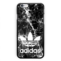 Adidas Marble Black Texture Print On Hard Plastic Case For iPhone 6s, 6s plus, 7