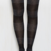 Striping Resemblance Tights in Black | Mod Retro Vintage Tights | ModCloth.com