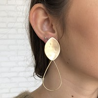 Pod Love Gold Earrings