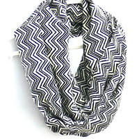 Chevron Infinity Scarf. Eternity Scarf. Circle Scarf. Women Accessories