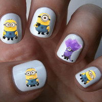 Despicable Me Minions Nail Art Decals Nail Stickers