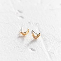 18k Gold-Plated Rhinestone Icon Post Earring - Urban Outfitters