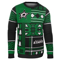 Dallas Stars NHL 2015 Patches Ugly Crewneck Holiday Sweater