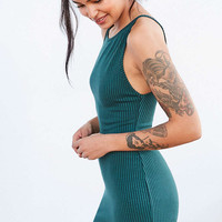 BDG Ribbed High-Neck Bodycon Mini Dress - Urban Outfitters