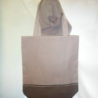 40% off SALE/CLEARANCE White & Grey Two Toned Shopper Tote Bag
