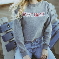 Causal Letter Printed  Sweater  B0014082