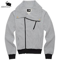 Men Fashion Coats Men Hip Hop Street wear With Side Zipper Men's Clothing Men Fashion Hoodies and Sweatshirts