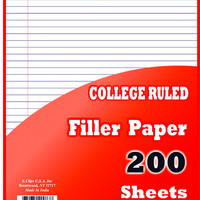 "binder filler paper - 200 sheets - 10.5"" x 8"" Case of 36"