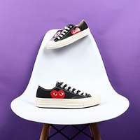 Comme des GAR?ONS CDG Play x Converse Chuck 70 Low Black Canvas Sneakers