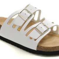 Birkenstock Granada Sandals Leather White