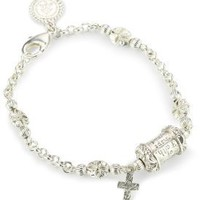 The Vatican Library Collection Silver-Tone Prayer Bead Bracelet: Jewelry: Amazon.com