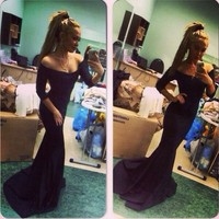 New Sexy Women Strapless Gown Prom Ball Formal Long Evening Cocktail Party Dress