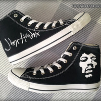 Jimi Hendrix Custom Converse / Painted Shoes
