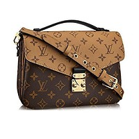 LV Women Shopping Leather Tote Handbag Shoulder Bag Louis Vuitton Monogram Canvas Poch