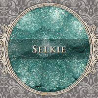 SELKIE Mineral Eyeshadow: 5g Sifter Jar, Teal with Silver Sparkle, VEGAN Cosmetics, Shimmer Eye Shadow
