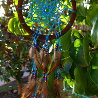 Mini Blue Dream Catcher