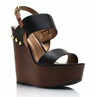 New Shoes: Strappy Faux Wood Wedges - GoJane.com
