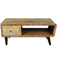 Porter Route 66 Reclaimed Wood Mid-century Modern Coffee Table with Storage Drawer (India)   Overstock.com Shopping - The Best Deals on Coffee, Sofa & End Tables