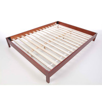 Queen size Japanese Style Platform Bed Frame in Mahogany Finish