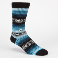 Stance Calexico Mens Crew Socks Blue Combo  In Sizes