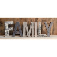 Family Wooden Words Primitive Display