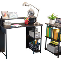 Zipcode Design Computer Desk with Shelf & Bookcase Set