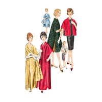 1960s Evening Coat Stole Pattern Vogue 5345  Three Lengths Bust 31 32