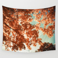 Autumn Forest Wall Tapestry by Cinema4design | Society6