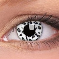 White Leopard Contact Lenses, White Leopard Contacts | EyesBright.com