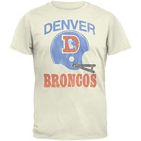 Denver Broncos - Distressed Helmet Soft T-Shirt