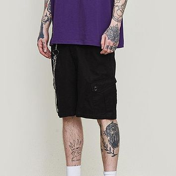 New Men's Loose-fit Casual Shorts Hip Hop Fashion Style Men Shorts Street Wear Pure Color Male Shorts