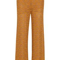 M Missoni - Metallic crochet-knit wide-leg pants